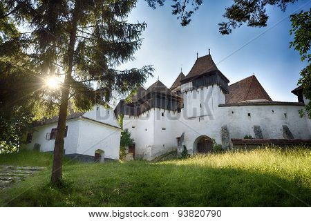 Viscri. Transylvanian medieval village. Fortified evaghelical church