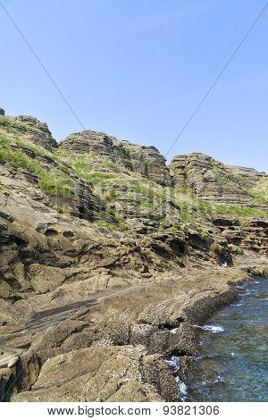 View Of The Yongmeori Coast In Jeju Island