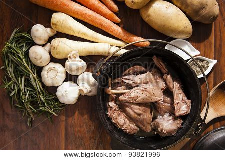 Rabbit Stew and Vegetables