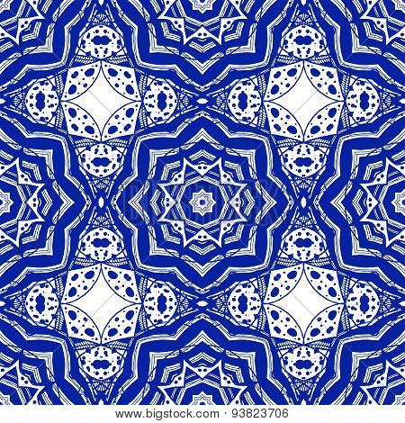 Abstract seamless pattern in arabic style, vector background