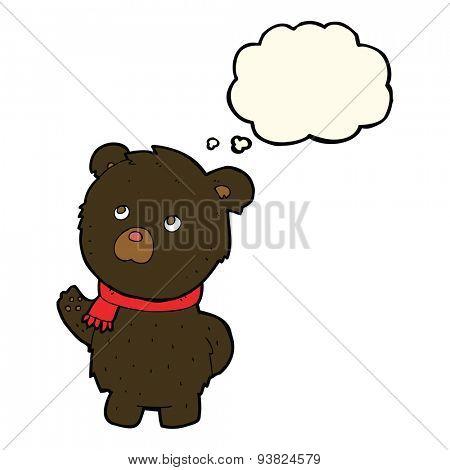 cartoon cute bear cub