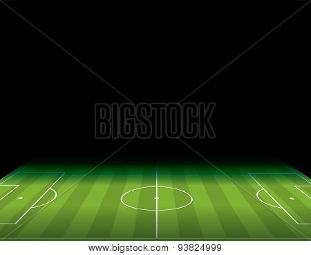 Soccer Football Field With Copyspace Illustration