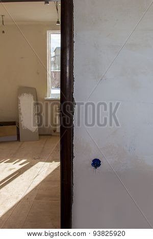 Poorly Installed Casing At Doorway In A Building