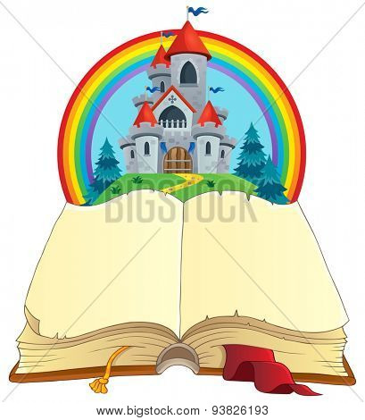Fairy tale book theme image 2 - eps10 vector illustration.