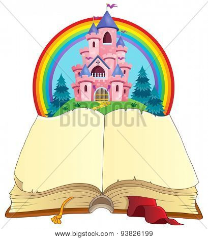 Fairy tale book theme image 3 - eps10 vector illustration.