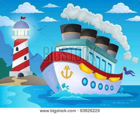 Nautical ship theme image 2 - eps10 vector illustration.