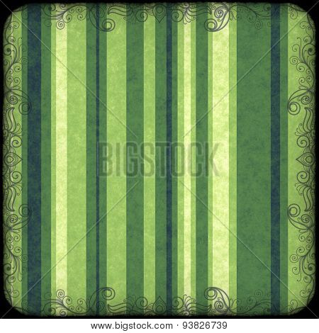 striped background with grunge and curl border