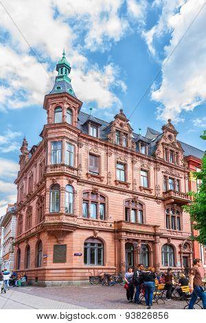 HEIDELBERG, GERMANY - MAY 28, 2015: The building of the old University of Heidelberg. Germany. Europe.