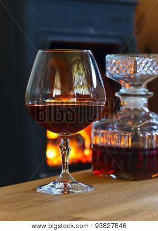 Glass With Brandy