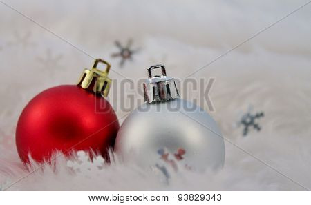 Christmas Decoration With Fake Snow
