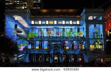 Customs House With Underwater Theme Vivid Sydney