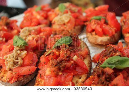 Fresh Bruschetta Toast Tomato Basil