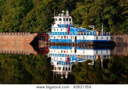 Tugboat On The Warrior River