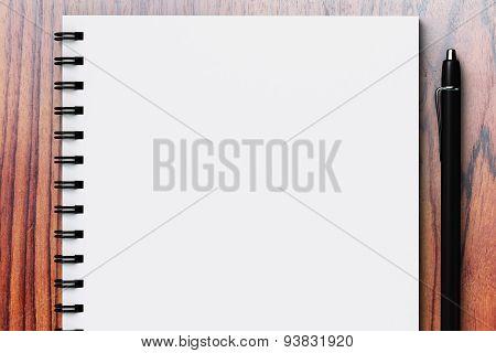 White Blank Diary