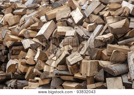 Firewood In A Mess Texture Background