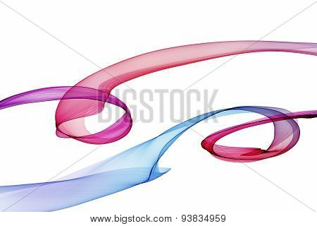 The Magical Form Of Violet Smoke. Abstract Violet-red-blue Background