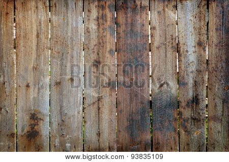 Burned Timber Fence
