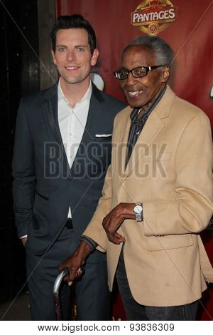 LOS ANGELES - JUN 17:  Chris Mann, Robert Guillaume at the