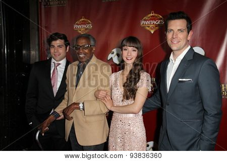 LOS ANGELES - JUN 17:  Storm Lineberger, Robert Guillaume, Katie Travis, Chris Mann at the