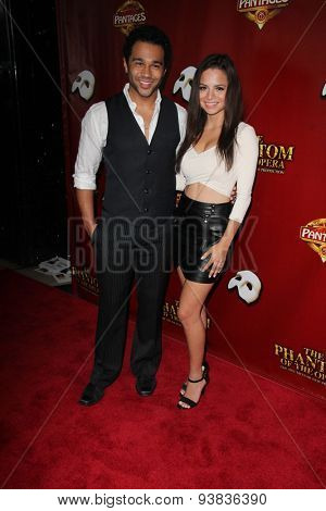 LOS ANGELES - JUN 17:  Corbin Bleu, Sasha Clements at the