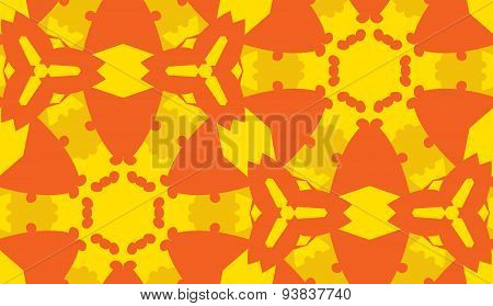 Orange And Yellow Hexagons Background