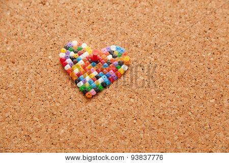Corkboard With Heart