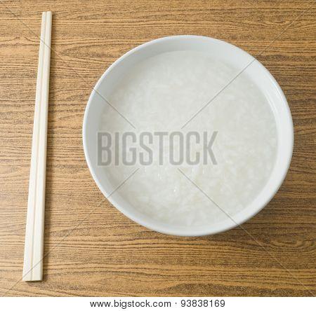Asian Rice Porridge Or Soft Boiled Rice