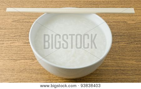 Asian Soft Boiled Rice Or Rice Porridge