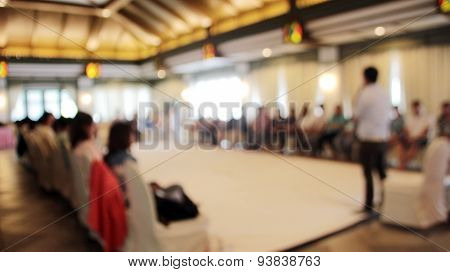 Blurred Workshop Speaker In Seminar