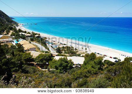 Panoramic view of Katisma Beach, Lefkada
