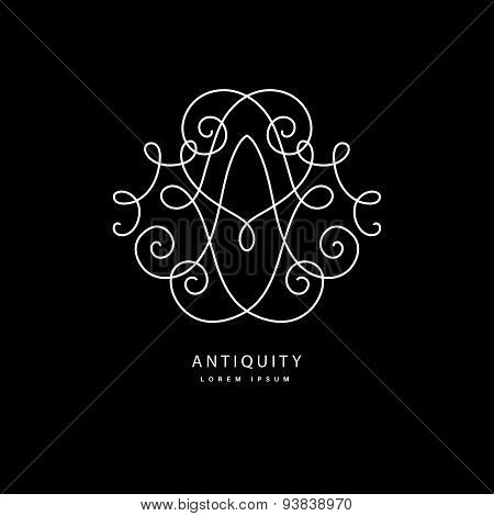Monogramm with letter a