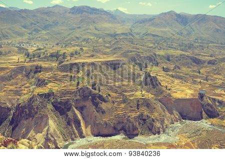 Colca Canyon, Peru,south America.