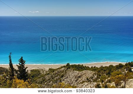 Blue Waters of Gialos Beach, Lefkada,