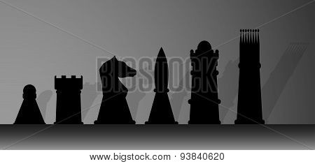 Silhouette Of Chessmen