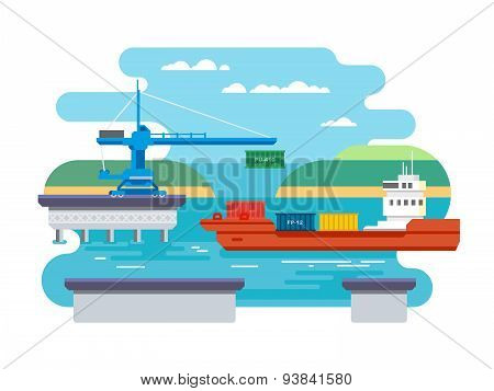 Cargo Freight Shipping by Water.