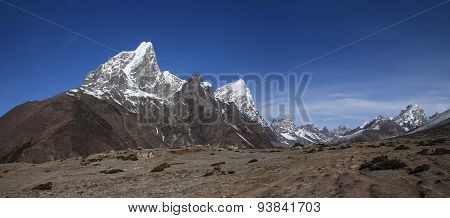 View Of Cholatse, Lobuche East And Other High Mountains