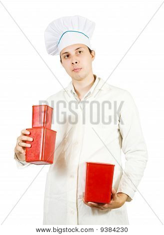 Male Cook With Packages