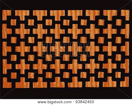 patterned grating