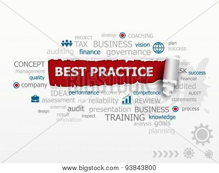 A Word Cloud Of Best Practice Concept.