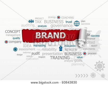 The Word Cloud Brand. Design Illustration Concepts For Business