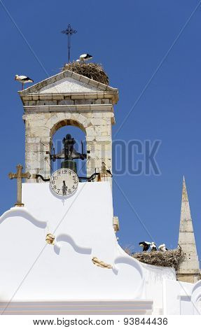 View of the old town of Faro - Capital of Algarve - Portugal, Europe