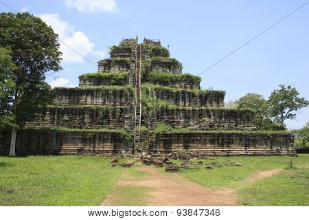 Ancient Khmer Pyramid In Koh Kher, Cambodia