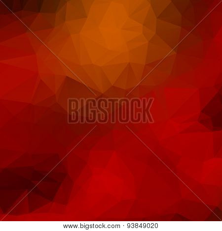 Orange, red, black low poly background