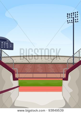 Illustration Featuring the Entrance to a Track and Field Stadium