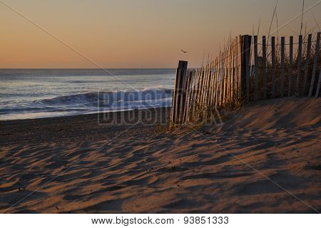 Sunrises are epic on the pristine beaches in the Outer Banks