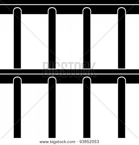 vector jail bars black symbol seamless background