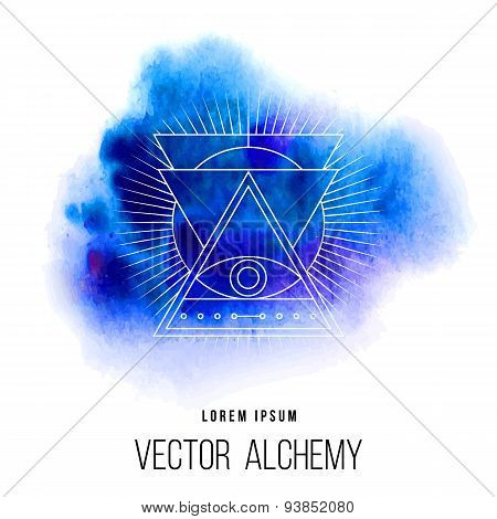 Vector geometric alchemy symbol