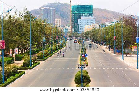Thuy Van Avenue. Vung Tau city, Vietnam.