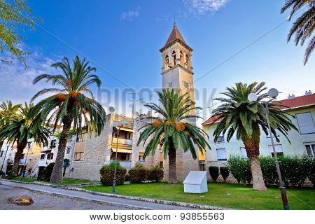 Trogir Stone Church And Palms