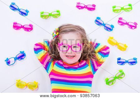 Little Girl Wearing Eyeglasses